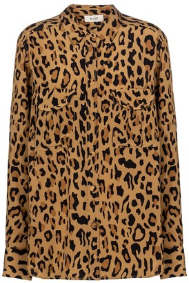 BLAZÉ MILANO Berber leopard-print silk shirt
