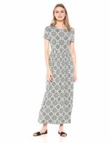 Essentials Womens Solid Short-Sleeve Maxi Dress