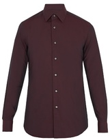 Brioni Point-collar Cotton Shirt