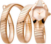 Just Cavalli 22mm Glam Chic Coil Bracelet Watch, Rose Golden