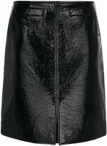 Courreges front slit mid skirt