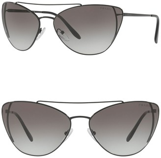 Prada 68mm Cat Eye Sunglasses