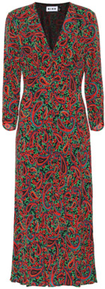 Rixo Katie printed crepe midi dress
