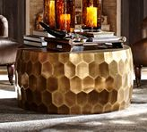 Pottery Barn Vince Metal-Clad Coffee Table