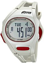 Asics Unisex CQAH0103 Heart Rate Monitor Watch with White Band