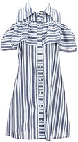 Xtraordinary Big Girls 7-16 Cold-Shoulder Striped Shirtdress