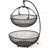 Mikasa Sprindle 2-Tier Basket with Banana Hook