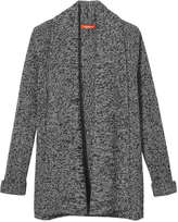 Joe Fresh Women's Draped Knit Cardi, Charcoal Mix (Size L)