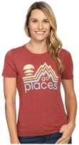 Life is Good Go Places Mountains Cool Tee