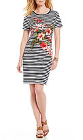 Tommy Bahama Sacred Groves Short Sleeve Stripe Dress