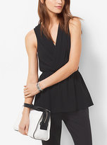 Michael Kors Sleeveless Cinched-Waist Top