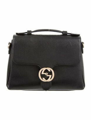 Gucci Dollar Interlocking G Top Handle Bag Black