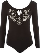 Topshop PETITE Embroidered Body