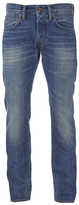 Edwin Ed55 Relaxed Tapered Denim Jeans Mid Glint Used