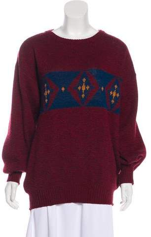 Givenchy Intarsia Wool-Blend Knit Sweater