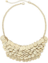Bold Elements Layered Disc Bib Necklace
