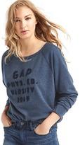 Gap Relaxed varsity appliqué pullover sweatshirt