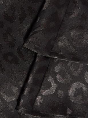 Quiz Jacquard Satin Skater Dress - Black