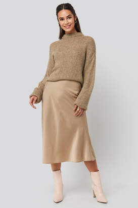 NA-KD Satin Skirt Beige