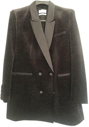 DANIELE CARLOTTA Black Velvet Jacket for Women