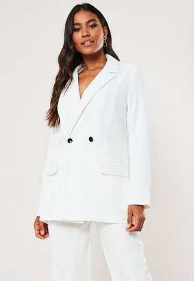 Missguided White Long Oversized Blazer
