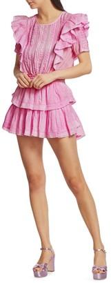 LoveShackFancy Natasha Flounce Tiered Dress