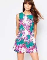 Traffic People Sass And Sunshine Romper In Floral Print