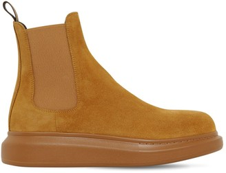 Alexander McQueen 45mm Tread Slick Suede Chelsea Boots