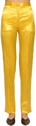 Jil Sander Slim Straight Leg Cupro Blend Pants