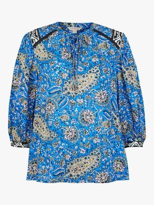 Monsoon Paisley Blouse, Blue