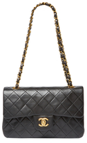 Chanel Vintage Black Quilted Lambskin Classic Flap Small