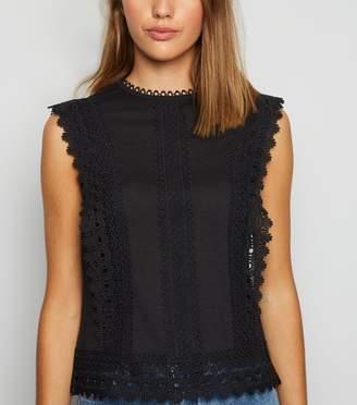 New Look Crochet Trim Sleeveless Top