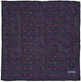 Tagliatore Floral Print Cotton Linen Pocket Square