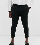 Asos Design DESIGN Plus cropped super skinny smart trousers in black