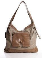 Kooba Brown Leather Gold Tone Single Strap Button Closure Shoulder Handbag