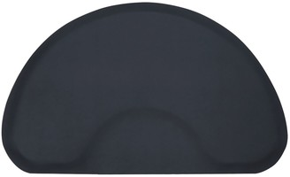 Modern Elements 3 x 5 Black Solid Half-Circle Mat