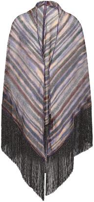 Missoni Fringed Metallic Crochet-knit Wrap