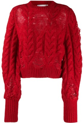 Stella McCartney Laddered Cable-Knit Jumper