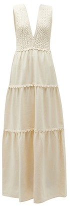 Escvdo - Teresa Tiered Cotton Dress - Ivory