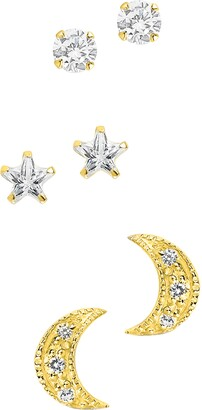 Sterling Forever 3-Pack Assorted Stud Earrings