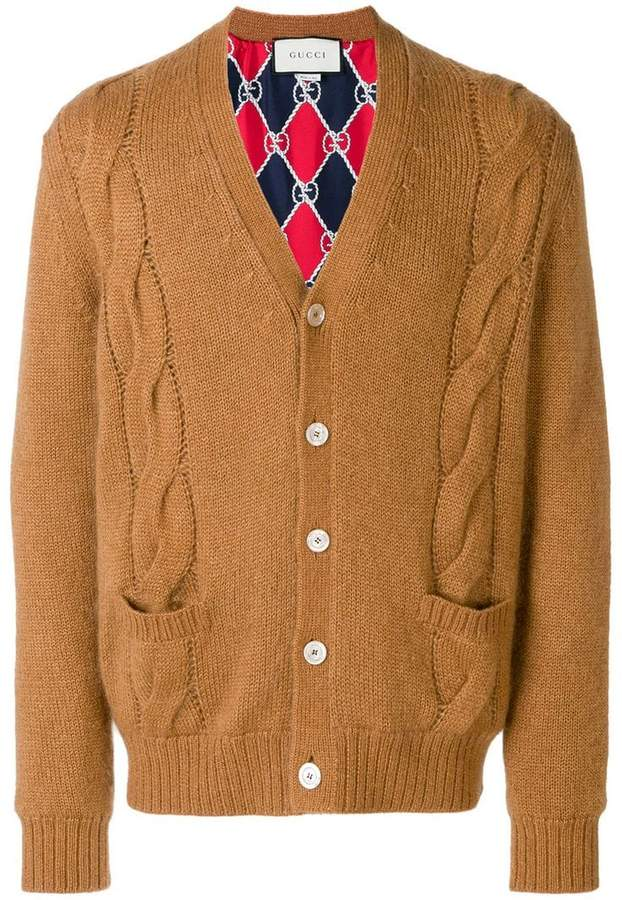 Gucci cable-knit cardigan