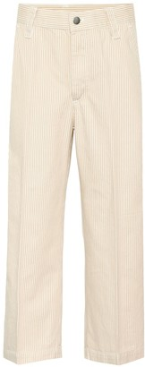 Marc Jacobs Striped cropped cotton pants