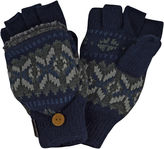 Muk Luks Sweater Vest Fingerless Flip Top Gloves