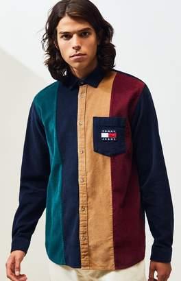 Tommy Jeans Colorblock Corduroy Button Up Shirt