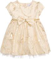 Sweet Heart Rose Metallic Brocade Dress, Baby Girls (0-24 months)