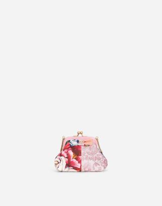 Dolce & Gabbana Jacquard Patchwork Shoulder Bag