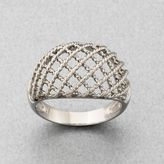 Rhodium-Plated Sterling Silver Mesh Ring