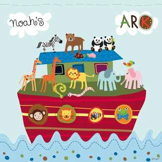 Camilla And Marc Happy Spaces (54 x 54 x 2 cm) Kids Wall Art Canvas Print Noah's Ark by Lesley Grainger