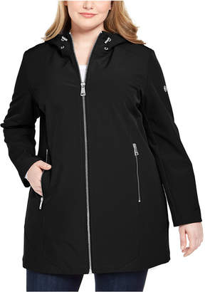 Calvin Klein Plus Size Hooded Raincoat