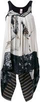 Antonio Marras printed draped top - women - Cotton/Polyester/Viscose - 42